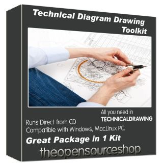Technical Drawing Software Kit – Draw Professional Level Diagrams Flow Charts