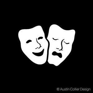Theater Symbol Decal Car Window Sticker Drama Acting
