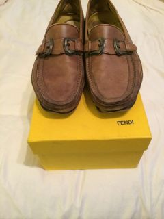 Fendi Mens Driving Shoes Vintage