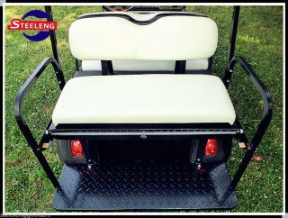 Rear Flip Seat Kit for Club Car Golf Cart DS Model 2000 2011 White