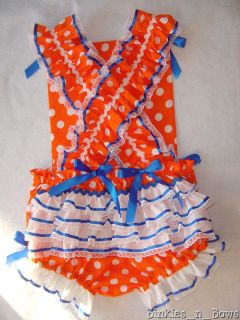 Darling Dot Romper Sunsuit Dress Up Adult Baby Sissy Available in 7 Colors