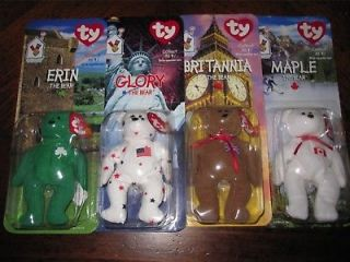Set of 4 Ty Beanie Baby Mini Ronald McDonald Collection