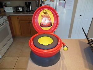 Cars Lightning McQueen Baby Toddler Potty Seat Chair Racecar Sounds Flusher