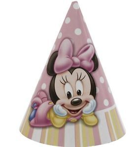 Disney Minnie Mouse 1st Birthday 8 Party Hats Supplies Favors