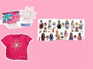 American Girl Birthday Party Favors Stickers Pic Frames Bracelets Doll T Shirts