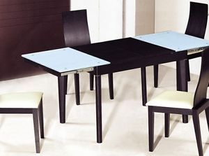 5pc Modern Expandable Wood Dining Room Table and Chairs Set ZATHDT6016W