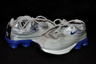 "Nike Shox"" Toddler Boys Silver Blue Lace Shoes Sneakers Sz 10c 10"