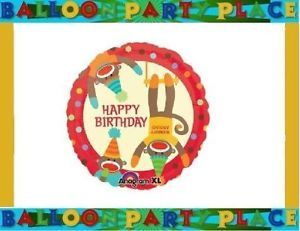 Happy Birthday Sock Monkey Balloon Party Supplies Decorations Polka Dots Jungle