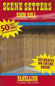 Western Panelling Scene Setters Party Room Roll Party Supplies Decorations New