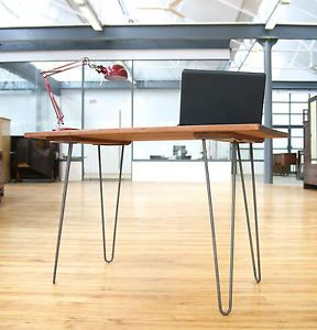 Mid Century Desk Hairpin Legs Writing Table Industrial Vintage Retro 60s 70s 3