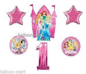 Disney Princess Balloons Castle Cinderella Rapunzel Party 1st Birthday First