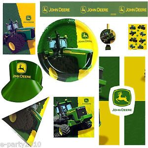 John Deere Tractor Birthday Party Supplies Create Your Own Set You Pick