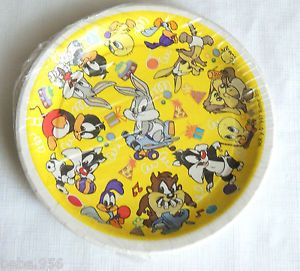 New Baby Looney Tunes Silvester Taz Bugs Bunny 10 Lunch Plates Party Supplies
