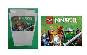 12 Lego Ninjago Stickers Goody Treat Favor Gift Loot Bag Labels Party Supplies