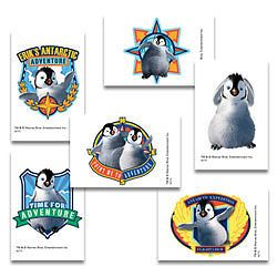 12 Happy Feet Movie Penguin Temporary Tattoos Kids Party Goody Bag Favors Supply