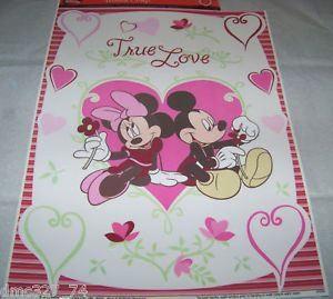 Valentine's Day Disney Mickey Mouse Minnie Mouse True Love Window Clings