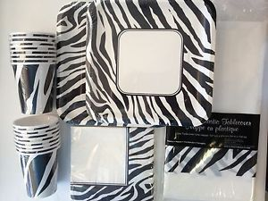 ... Animal Print Party Supplies Zebra Paper Plates Napkins Tablecover w Cups FOR16; Balloons Farm Cow ... & Cow Print Party Supplies