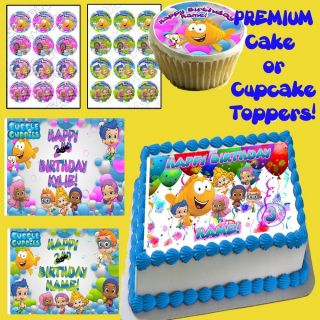 Bubble Guppies Edible Cake Cupcake Toppers Picture Decorations Sugar Birthday