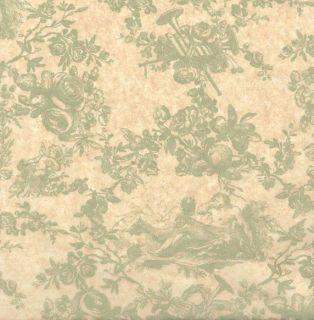 Sage Toile on Kraft Tissue Paper 120 Large Sheets