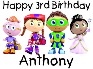 Personalized Super Why Wyatt Cartoon Character Birthday T Shirt Toddler Youth