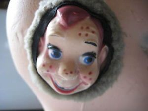 Antique Vintage Howdy Doody Ear Muffs Childrens Cartoon