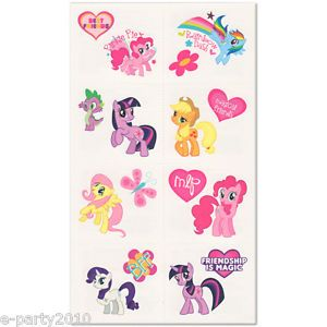 16 My Little Pony Friendship Is Magic Tattoos Birthday Party Supplies Favors