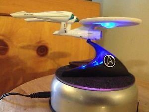 Star Trek USS Enterprise Model Display Lighted Rotating Meteorite Coated Base