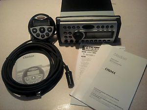 Clarion CMD4A Marine Stereo with Hardwired Remote 6 Pin Extension