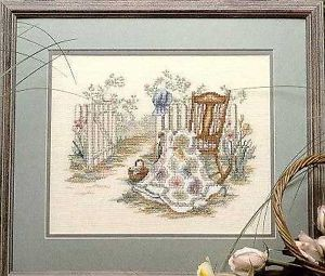 Paula Vaughan Spring Remembered Part 2 Quilts Cross Stitch Pattern Rocking Chair