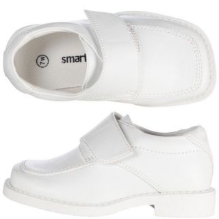 Toddler Boys White Formal Dress Shoes Size 7 Strap Shoe