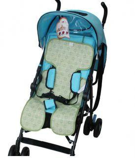 Summer Children Baby Cool Car Umbrella Rattan Stroller Baby Carriage Mat