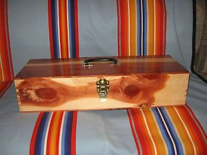 Osage Made Native American Cedar Box Peyote Church Gourd NAC Eagle Feathers