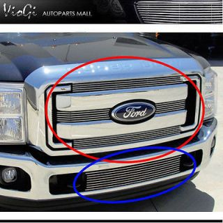2011 11 Ford F250 Superduty Up Low Billet Grill Grille Insert Combo 5pcs