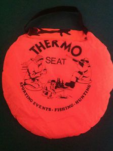 Thermal Cushion Hot Seat Hunting Fishing Sporting Events Blaze Orange Camo