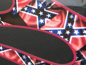 6pc Rebel Flags Flame Decal Kit 4x4 Chevrolet Dodge Ford Car Truck Ratrod Jeep