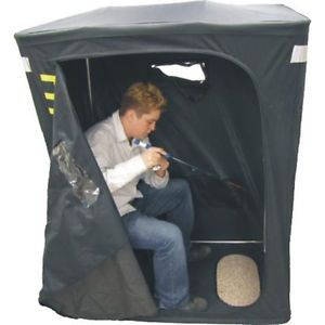 HT Quick Hut All in 1 One Man Ice Fishing Shelter Unit w Chair QH 1