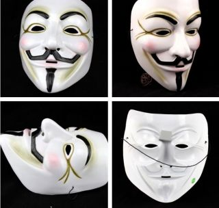V for Vendetta Guy Fawkes Fancy Party Halloween Masquerade Face Mask Cool W2
