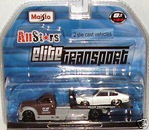 1 64 Flatbed Tow Truck 1971 Chevrolet Vega Rollback Wrecker Car Carrier V 8 Vega