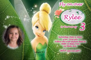Personalized Tinkerbell Birthday Party Invitations