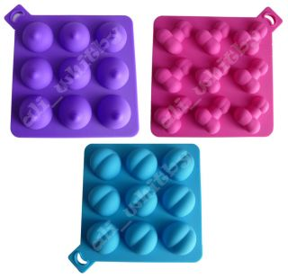 Willy Boobie Bum 100 Silicone Baking Moulds Ice Cube Trays Stag Hen Night Cake