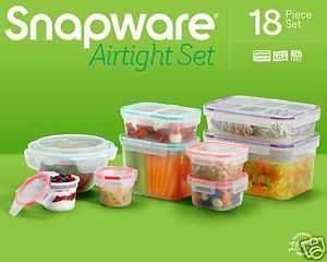 Snapware Airtight 18 Piece Plastic Food Storage Container Set