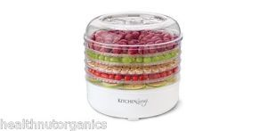 Kitchen Living Food Dehydrator 5 Trays Fruits Vegetables Trail Mix Jerky