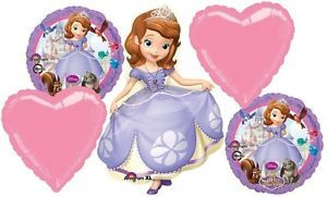 Disney Princess Sofia The 1st Birthday Party Balloons Supplies Decoration Sophia