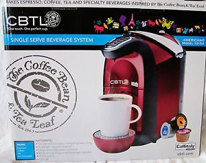 CBTL Americano Single Serve Coffee Tea Espresso Maker 10154 Admiral Red New