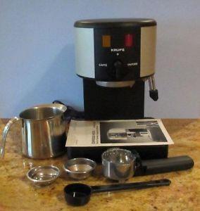 Krups Espresso Novo Electric Espresso Cappucino Machine Model 964 Frother Mug