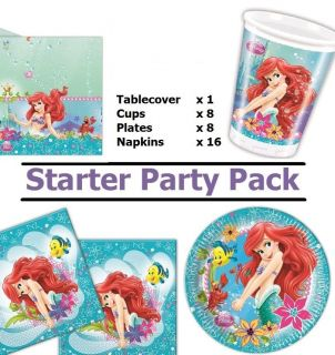 Disney Little Mermaid Ariel Starter Party Pack for 16 Guests