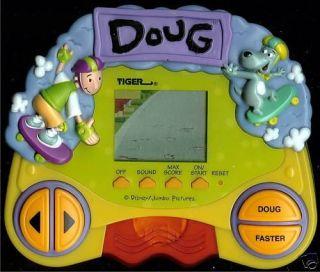 1990s Tiger Doug Nickelodeon Cartoon Electronic Handheld LCD Toy Arcade Game