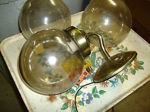 Vintage RV Lights 12V Glass Globes 3 Interior or Exterior 5 6 inch Globes