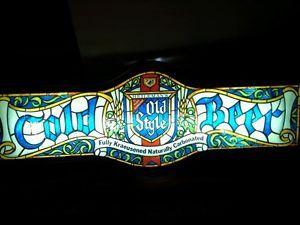 Vintage Lighted Beer Sign Cold Beer Old Style Pub Bar Decor Neon Glow Biker Fish