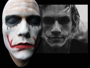 Heath Ledger Joker Test Paint Half Face Life Mask Lifecast Dark Knight Hot Toys